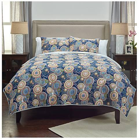 Bohemian Indigo Cotton Quilt