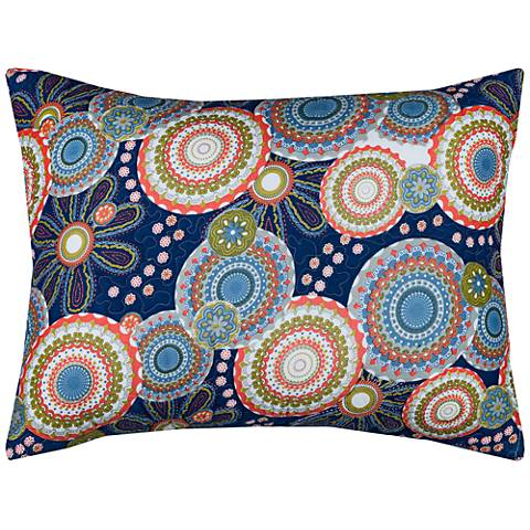 Bohemian Indigo Cotton Quilted King Pillow Sham