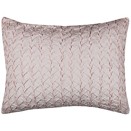 Carly Pink Cotton Voile Quilted King Pillow Sham