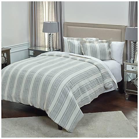 Charlton Multi-Color Blue Linen Duvet