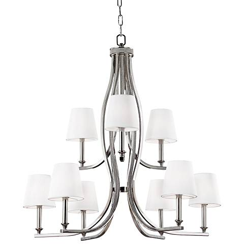 "Feiss Pave 33 1/2"" Wide Polished Nickel Chandelier"