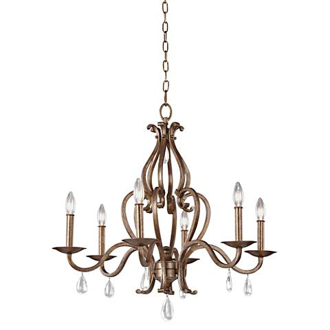 "Feiss Celise 28 1/4"" Wide Venetian Mist Chandelier"