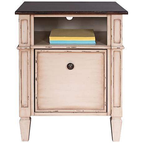 Baldwin Antique Powder White 1-Drawer Wood File Cabinet