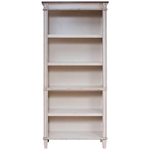 Martin Baldwin Antique Powder White 5-Shelf Wood Bookcase