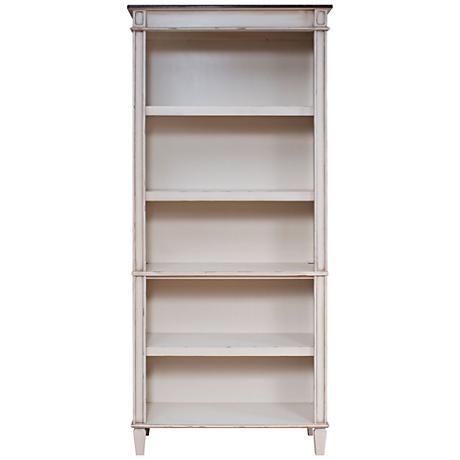 Baldwin Antique Powder White 5-Shelf Wood Bookcase