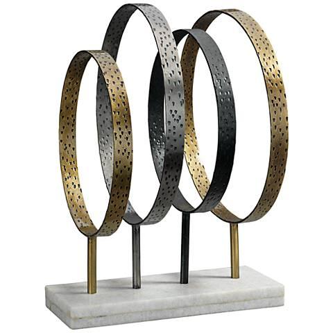 """Jamie Young Athena 16 1/2""""H Mixed Metal Iron Stand Sculpture"""