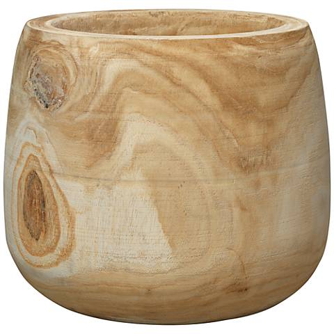 "Jamie Young Brea Natural Wood 13 1/2"" Wide Wooden Vase"
