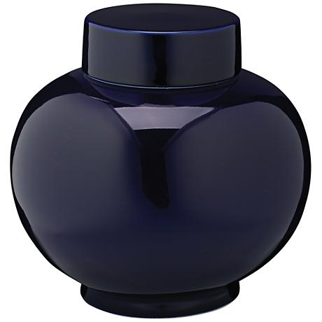 "Jamie Young Dynasty Navy 9 1/4"" Wide Ceramic Vase"