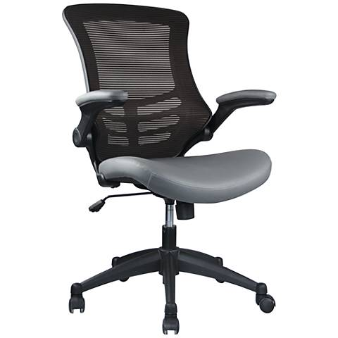 Intrepid Coffee and Gray High-Back Adjustable Office Chair