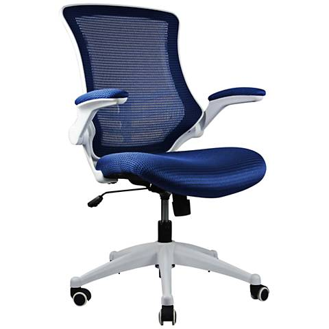 Lenox Royal Blue Mesh Adjustable Office Chair