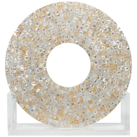 """Jamie Young Odyssey 18"""" High Mother of Pearl Sculpture"""