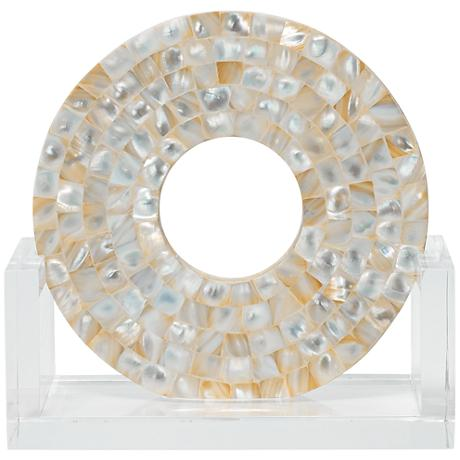 """Jamie Young Odyssey 9"""" High Mother of Pearl Sculpture"""