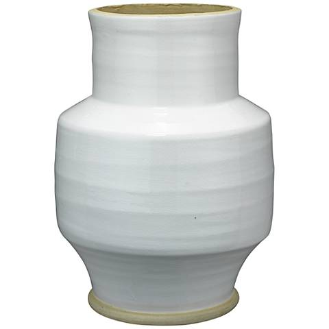 "Jamie Young Solstice White 13"" High Ceramic Vase"