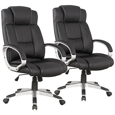 Presidential Washington Black Office Chair Set of 2