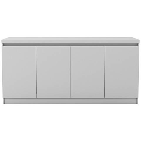 Viennese White Gloss Wood Buffet Cabinet