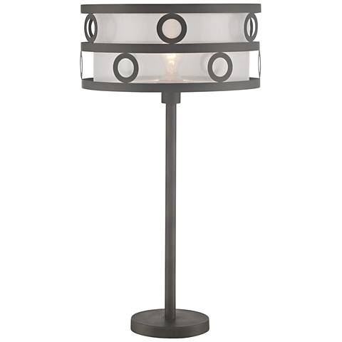 Lite Source Lavinia Burnished Bronze Metal Table Lamp
