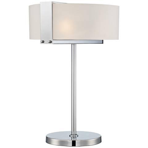 Lite Source Rogina Polished Steel Metal Table Lamp