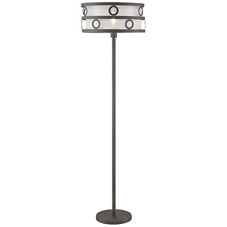 Lite Source Lavinia Burnished Bronze Metal Floor Lamp