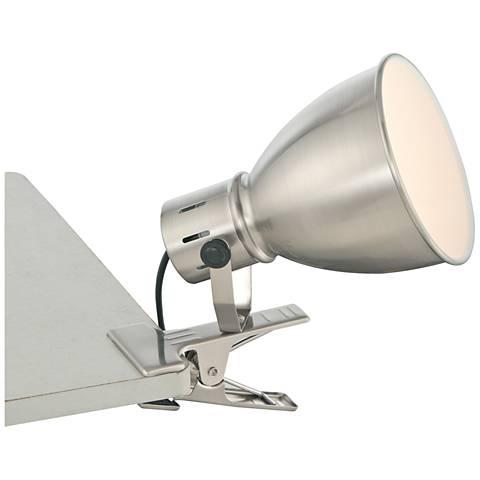 Lite Source Kiefer Brushed Nickel Clip-On Lamp