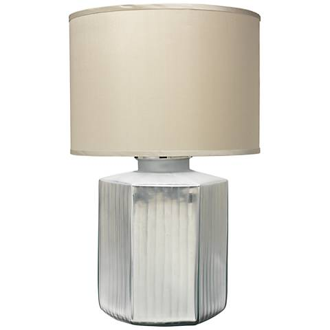Jamie Young Anderson Silver Frosted Glass Table Lamp