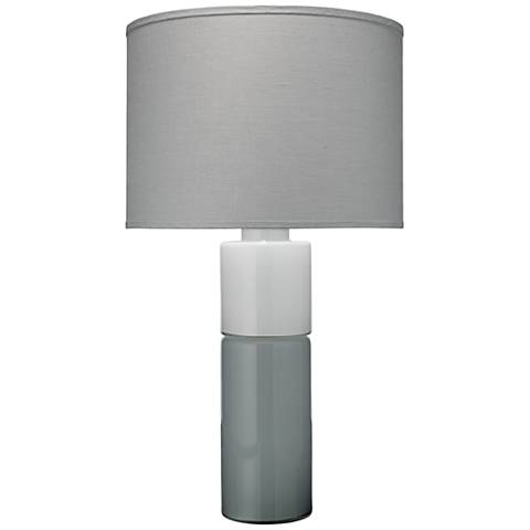 Jamie Young Copenhagen Gray and White Glass Table Lamp