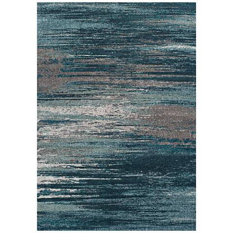 Dalyn Modern Greys MG5993TE Teal Area Rug