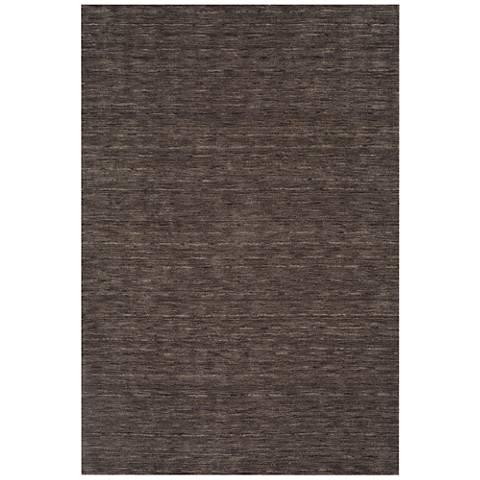 Dalyn Rafia RF100CC Hand-Loomed Charcoal Wool Area Rug