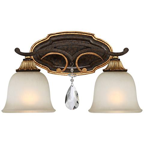 "Metropolitan Chateau Nobles 16 1/4""W Bronze Bath Light"