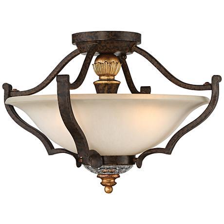 """Metropolitan Chateau Nobles 17"""" Wide Bronze Ceiling Light"""