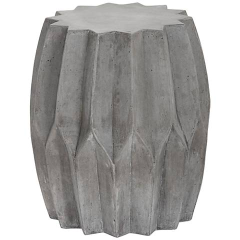 Rori Matte Charcoal Pleated Indoor-Outdoor Side Table