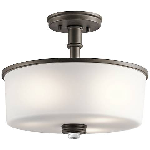 "Kichler Joelson 14 1/4"" Wide Olde Bronze Ceiling Light"