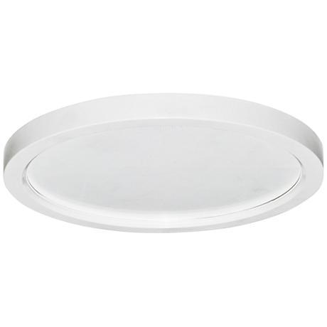 "Slim Disk 5 1/2""W White 9W LED Round Surface-Mount Light"