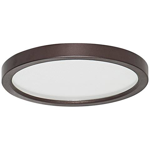 "Slim Disk 5 1/2""W Bronze 9W LED Round Surface-Mount Light"