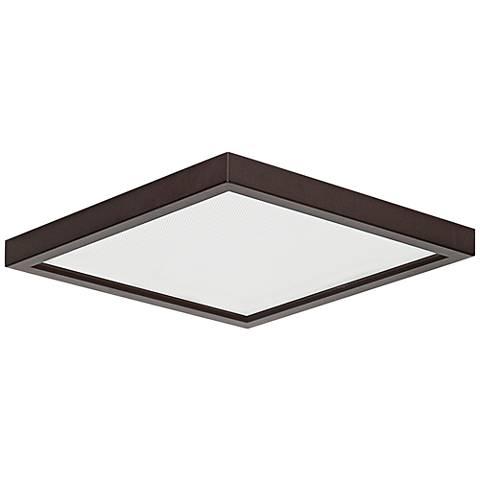 "Slim Square 7""W Bronze 15W LED Surface-Mount Light"
