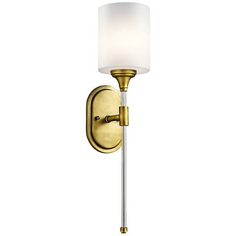 "Kichler Theo 23 1/4"" High Natural Brass Wall Sconce"