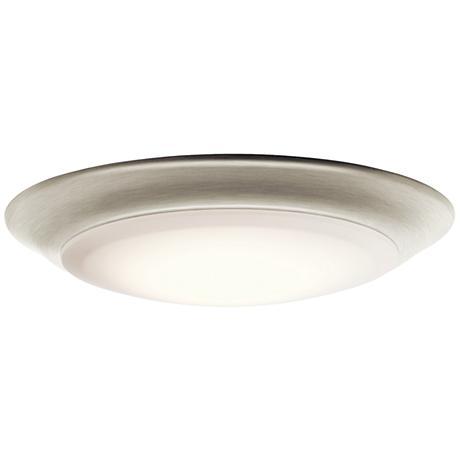 "Kichler 7 1/2""W Brushed Nickel 2700K LED Ceiling Light"
