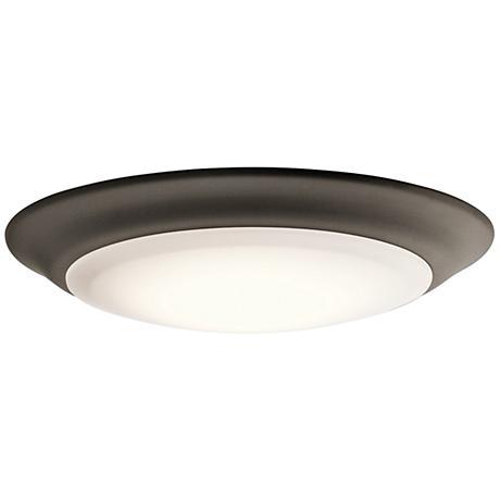 """Kichler 7 1/2"""" Wide Olde Bronze 2700K LED Ceiling Light"""
