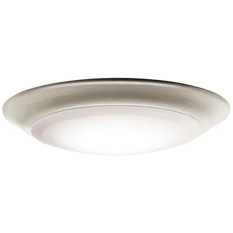 "Kichler 7 1/2""W Brushed Nickel 3000K LED Ceiling Light"