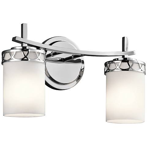 "Kichler Marlowe 2-Light 16""W Polished Chrome Bath Light"