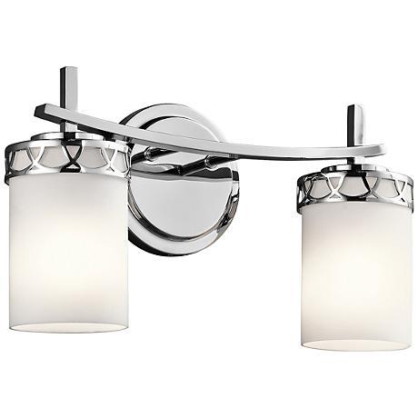 """Kichler Marlowe 2-Light 16""""W Polished Chrome Bath Light"""