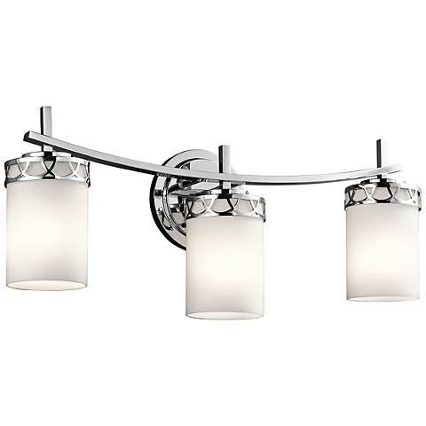 """Kichler Marlowe 3-Light 24""""W Polished Chrome Bath Light"""