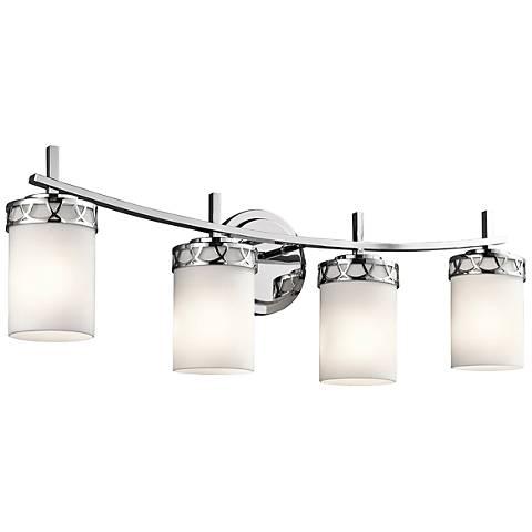 """Kichler Marlowe 4-Light 24""""W Polished Chrome Bath Light"""