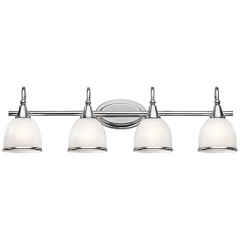 """Kichler Rory 33 1/4""""W 4-Light Polished Chrome Bath Light"""