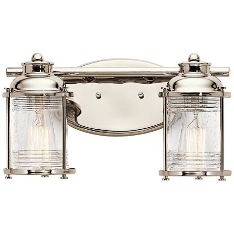 "Kichler Ashland Bay 14 1/4""W Polished Nickel Bath Light"