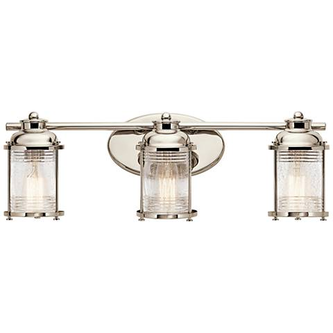 "Bathroom Lighting Fixtures Polished Nickel kichler ashland bay 24"" wide polished nickel bath light - #9y288"