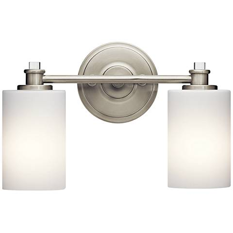 "Kichler Joelson 2-Light 14""W Brushed Nickel Bath Light"