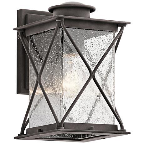 "Kichler Argyle 10 1/4""H Weathered Zinc Outdoor Wall Light"