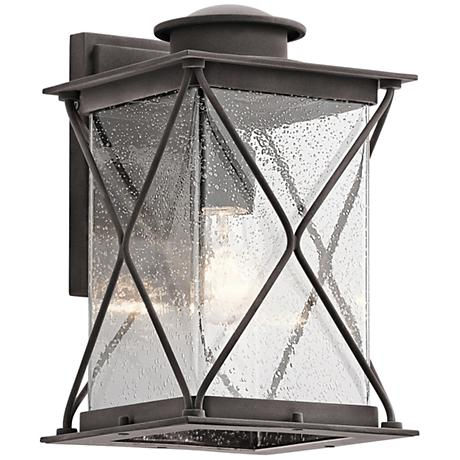 "Kichler Argyle 12 3/4""H Weathered Zinc Outdoor Wall Light"
