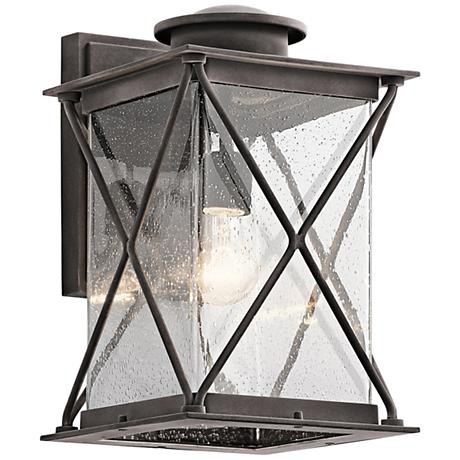 "Kichler Argyle 15"" High Weathered Zinc Outdoor Wall Light"