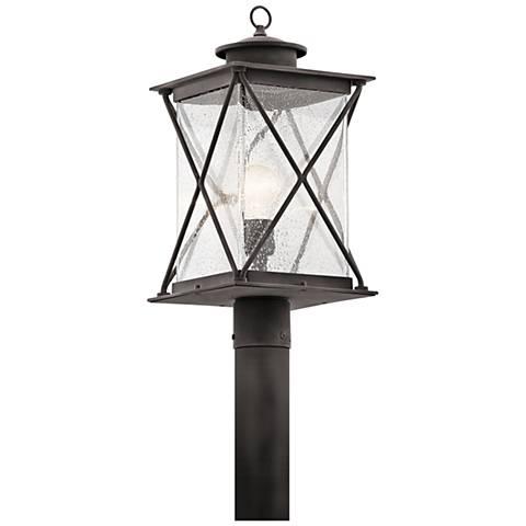 "Kichler Argyle 19 1/2""H Weathered Zinc Outdoor Post Light"